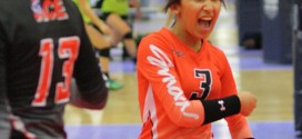 ACE Smack libero  Isabella Salazar (3) had a lot to shout about during a 3-0 performance on Friday.