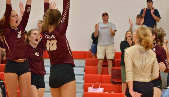 Dripping Springs player celebrate