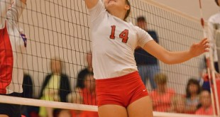 Haley Bradfute (14) had 38 assists in leading New Braunfels Canyon. (Photo by Gerald Castillo)