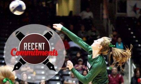 Prosper State Haley Killinger (12) unloads for Prosper - Recent Commitments