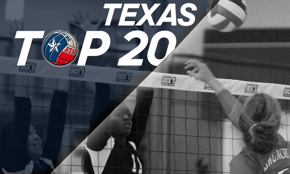 Texas Top 20 volleyball rankings